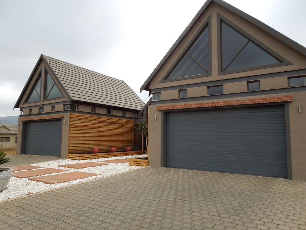 double-alu-zink-garage-door-&-motor-installed-combo