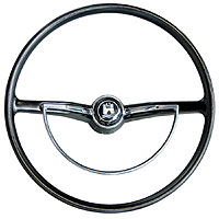 311415651dbk--steering-wheel-black-oe-style-beetle-karmann-ghia-&amp-type-3-all-1964-to-1971inc-horn-push-&amp-d-ring-each