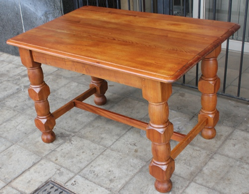 teak-dinning-table-mahogany-top-9039