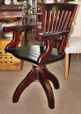 swivel-office-arm-chair--mahogany-sold