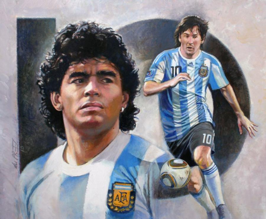 great-argentina-10&#039s--maradona-&amp-messi