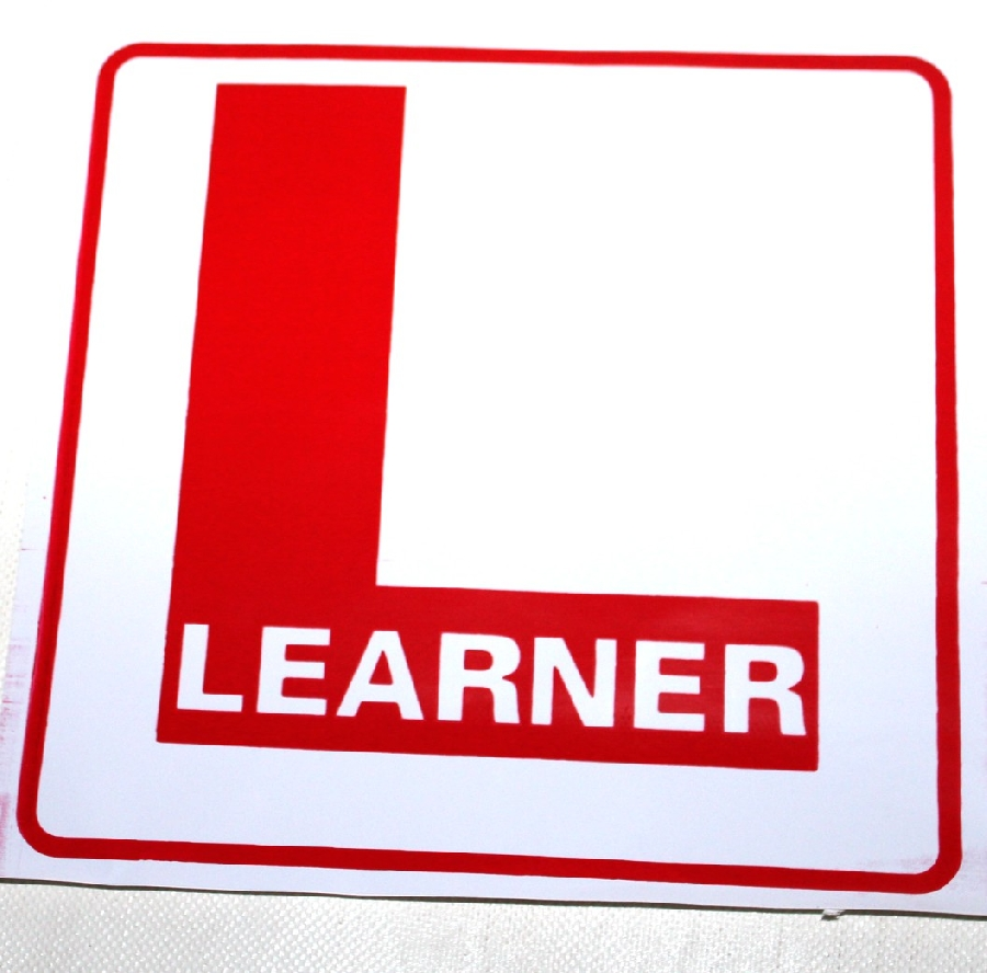 learner-red-sticker