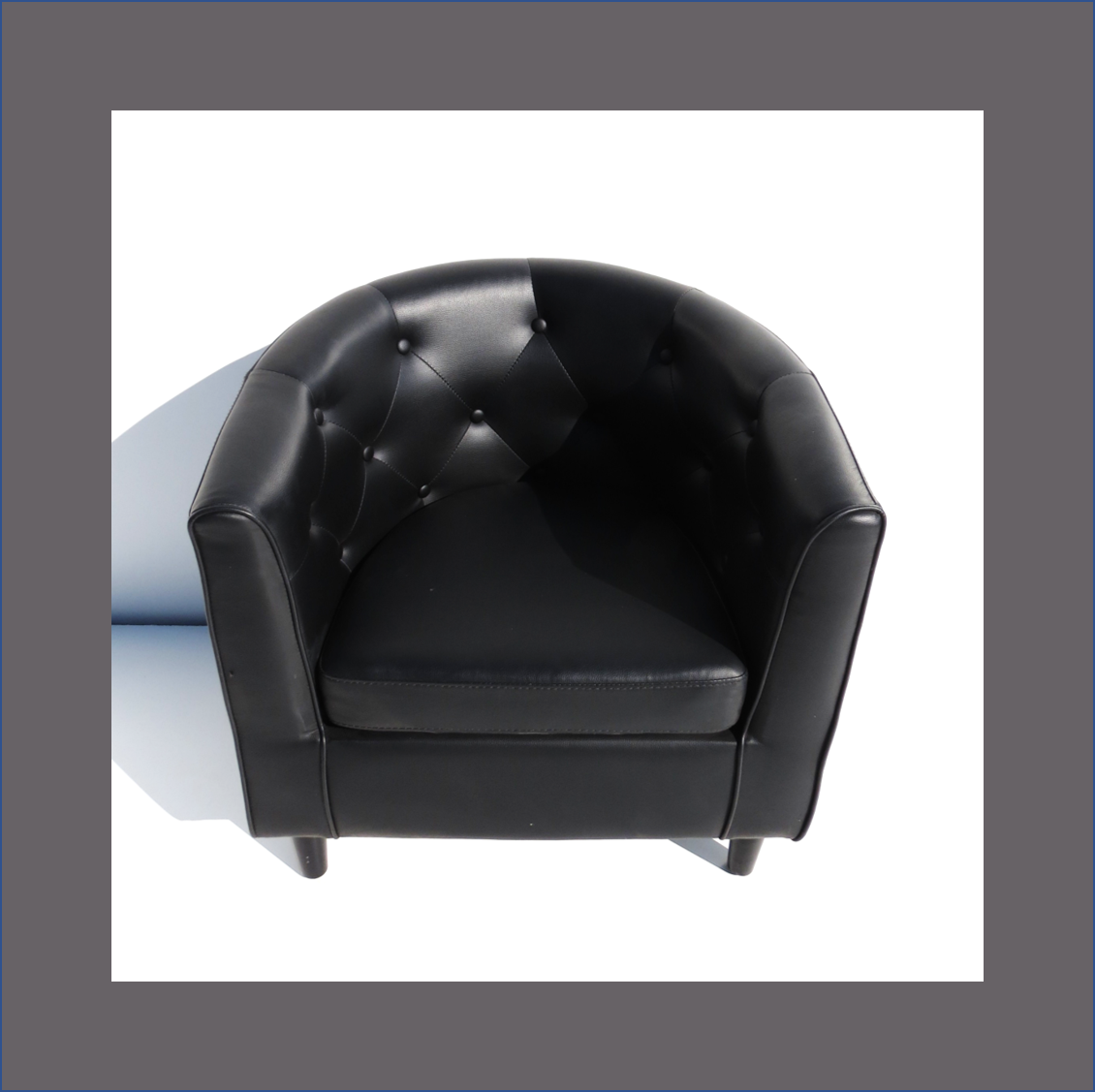 black-tub-chair-deep-buttoned