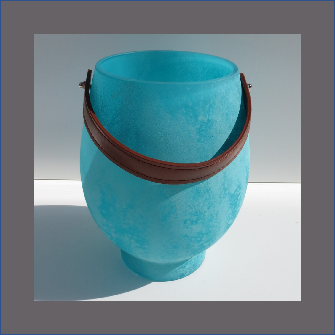 turquoise-and-leather-vase