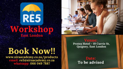 2021 re5 workshops conducted in East London by sira academy