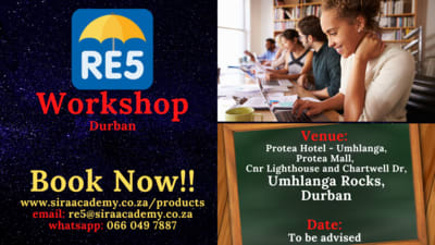2021 re5 exam workshops conducted in Durban by sira academy