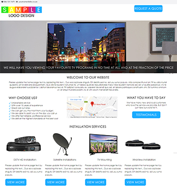 Satellite TV Installations - Warehouse Websites -