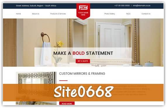 Framing & Mirrors - Warehouse Websites -